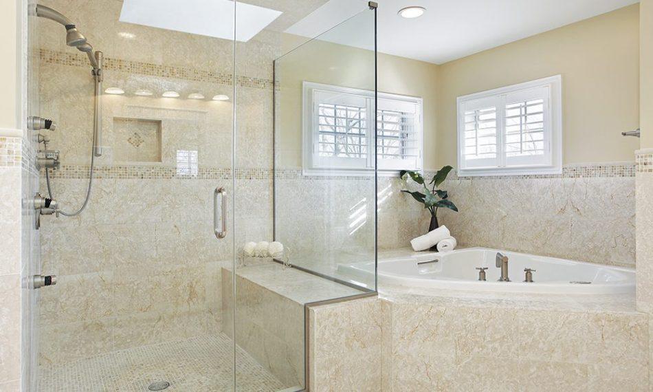 InvisiRail shower glass