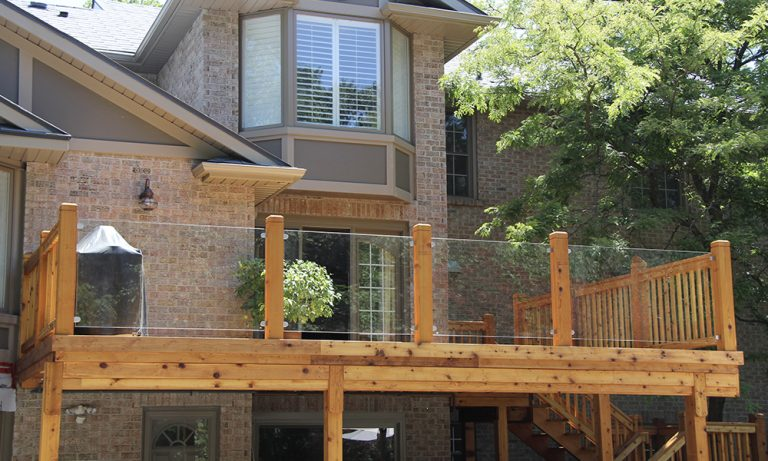 Backyard InvisiRail railing
